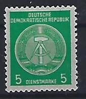 Germany (DDR) 1957-60  Dienstmarken (**) MNH  Mi.34 A - Oficial