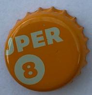Kroonkurken 206 Super 8 Oranje - Beer
