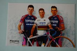 CYCLISME: CYCLISTE : LAMPRE DAIKIN Format 10.5 X 18 - Cyclisme