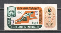 Qu'aiti State In Hadhramaut 1967 Mi 107B MNH SUMMER OLYMPICS MEXICO (1) - Summer 1968: Mexico City