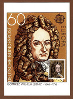 BRD 1980  Mi.Nr. 1050 , EUROPA CEPT - Gottfried Wilhelm Leibniz - Maximum Card - Erstausgabetag Bonn 08.05.1980 - 1980