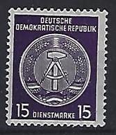 Germany (DDR) 1957-60  Dienstmarken (**) MNH  Mi. 36 B - Oficial