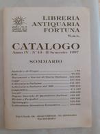 Catalogo Della Libreria Antiquaria Fortuna - II Semestre 1997 - Libri, Riviste, Fumetti