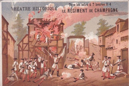 CHROMO THEATRE HISTORIQUE / LE REGIMENT DE CHAMPAGNE / PRIX DES PLACES AU VERSO - Ohne Zuordnung