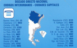 ARGENTINA(Urmet) - Map Of Argentina, Telephone Codes, Telecom Argentina Telecard, Mint - Telefoonkaarten