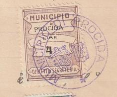 Procida. 1932. Marca Municipale (comunale) Diritti Di Segreteria L. 4, Su Certificato Di Cittadinanza - Italie