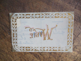 Carte Celluloid Prenom Marie - Andere