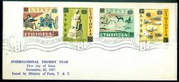Ethiopia 1967 FDC International Tourist Year Mi 572-575 - Etiopia