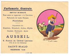 Petit Calendrier Parfumerie Ausseil Saint Malo 1947 - Calendari