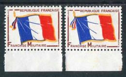 TIMBRES** De Franchise Militaire De 1964 En Bord De Feuille Avec Variété Du Drapeau - Franquicia Militar (Sellos)