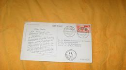 CARTE IMPRIME DE 1953. IFNI.- FORTIN AU BORD DE LA MER..CACHETS SIDI IFNI + TIMBRE - Ifni