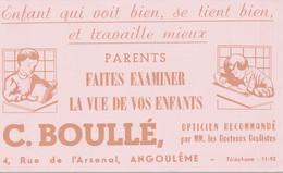 BUVARD  OPTICIEN DOCTEUR OCULISTE C. BOULLE - O