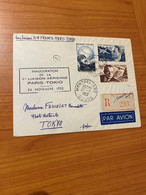 Lettre Inauguration De La 1ere Liaison Aérienne PARIS/ TOKIO 1952  ( Port Offert ) - Luftpost