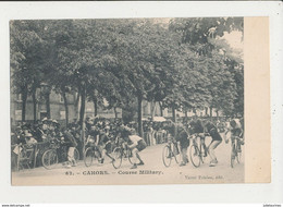 46 CAHORS COURSE MILITARY CYCLISME CPA BON ETAT - Cycling