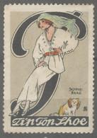 DOG - Fashion Mode TEXTILE - Tip Top SHUE Shoes Store Shop LABEL CINDERELLA VIGNETTE 1920 Germany - Dogs