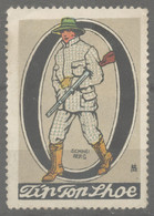 HUNTER HUNTING Boots Rifle Gun Fashion Mode TEXTILE Tip Top SHUE Shoes Store Shop LABEL CINDERELLA VIGNETTE 1920 Germany - Shooting (Weapons)