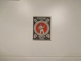 Chiudilettera Label Cinderella Vigili Fuoco BERLIN 1901 Feuerschutz Und Feuer Rettungswsen  Dif - Sin Clasificación