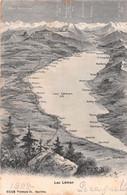 Lac Léman Depuis La Région De La Dôle - Genève - Lausanne St Maurice - VD Waadt