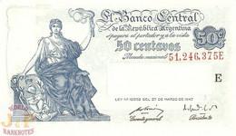 ARGENTINA 50 CENTAVOS 1948/50 PICK 256 UNC - Argentine