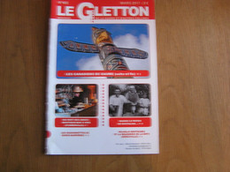 LE GLETTON N° 492 Régionalisme Gaume Ardenne Patrimoine Ferroviaire De Gaume Garde Barrière Ligne 155 Canadien Marville - Bélgica