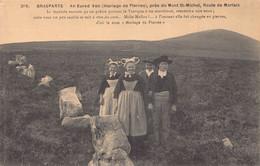 BRASPARTS  - AN EURED VEN ( Mariage De Pierres )  Animée ( Alignement Menhir ) - Other Municipalities
