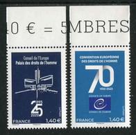 "TIMBRES** De 2020 En Bord De Feuille ""2 X 1,40 € - CONSEIL DE L'EUROPE"" - Nuovi"