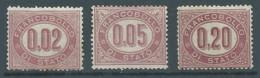 Italie Timbres De Service YT N°1-2-3 Oblitéré ° - 1861-78 Vittorio Emanuele II