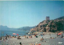 Cpsm - Corse -    Porto - La Plage Et La Tour , Animée          AK553 - Andere Gemeenten