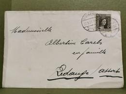 Enveloppe, Oblitéré Dudelange 1921. Envoyé à Redange Sur Attert - Briefe U. Dokumente