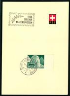 300 Mit Sonderstempel A. 525 1950 Zürcher Kanbenschiessen - Cartas