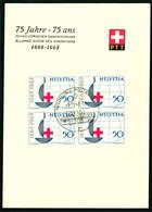 399 Mit Sonderstempel A. 928 75 Jahre  - 75 Ans - Schweizerischer Samariterbund 1888-1963 - Cartas