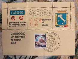 Foglietto Erinnofilo Dedicato Alle Giornate Di Studio Viareggio 1984. - Non Classés