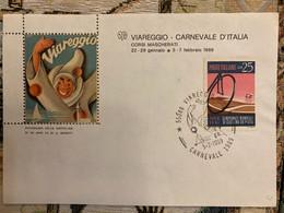 Foglietto Erinnofilo Dedicato Al Carnevale Di Viareggio 1989. - Non Classés