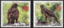 Bosnia And Herzegovina - Republic Of Srpska 2011 Set 2 V  MNH European Nature Protection Birds Bird  Buzzard Goshawk - Águilas & Aves De Presa