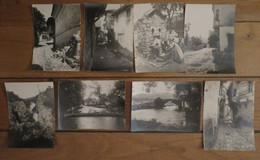 VODENA EDESSA (Grèce) Ensemble De 8 Anciennes Photographies Rues Vues Diverses - Grecia