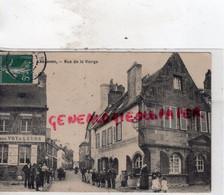 29- LESNEVEN- RUE DE LA VIERGE - CAFE DES VOYAGEURS -EPICERIE QUINCAILLERIE CORDAGES 1908 - Lesneven