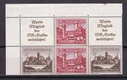 Deutsches Reich - 1939 - Michel Nr. W 141 + W 145 Als Block - Postfrisch - 60 Euro - Zusammendrucke