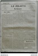 1836 Journal LE PILOTE DU CALVADOS - NAPOLEON - SUCRES INDIGENES - THEATRE DE CAEN - FEU RUE DE LA POISSONIERE PARIS - 1800 - 1849