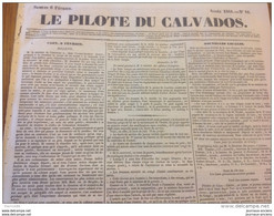 LE PILOTE DU CALVADOS Du 6 Fevrier 1841 - A VOIR - ARGENTAN - 1800 - 1849