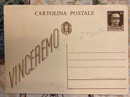 Italia Regno Intero Postale Nuovo Vinceremo Centesimi 30. - Postwaardestukken
