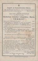 BP VErbist Hubertus Carolus Leopoldus Maria Z.E.H. (Geel 1846 - Mechelen 1899) - Alte Papiere