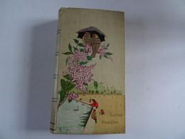 Ancien Album Cartes Postales Vide 80 Pages Super Décor Relief Oiseaux Personnages & Fleurs En Relief Dans L'ensemble TBE - Materiali