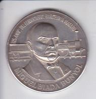 MEDALLA DE PLATA DEL 125 ANIV. FERROCARRIL BARCELONA - MATARO (MIGUEL BIADA) (TREN-TRAIN) SILVER-ARGENT - Ohne Zuordnung