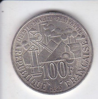 MONEDA DE PLATA DE FRANCIA DE 100 FRANCS DEL AÑO 1985 EMILE ZOLA (COIN) SILVER-ARGENT - N. 100 Francs