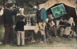 29 La Foret Fouesnant Cpa En Bretagne Chist Mad Bon Cidre Au Pardon Cpa Carte Animée Colorisée Cachet 1910 - La Forêt-Fouesnant