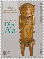 Polynesia 2019 Polynesie Statue Du Dieu A'A Art Wood Statue Isle  Rurutu 1v Mnh - Polinesia Francese