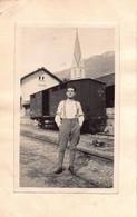 """1520""""FOTO-GENIO FERROVIERI-TERLAN- ANNO 1922 """" - Guerre, Militaire"""