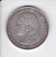 MONEDA DE PLATA DE 1 GULDEN DEL AÑO 1892 DE WILHELMINA (COIN) SILVER-ARGENT - 1 Gulden