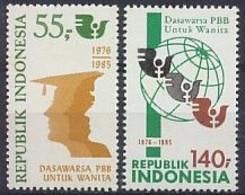 Indonesië / Indonesia 1985 Nr 1235/1236 Postfris/MNH Decade Van De Verenigde Naties Voor De Vrouw, U.N. United Nations - Indonésie