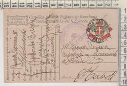 POSTA MILITARE CARTOLINA POSTALE IN FRANCHIGIA BRIGATE MARCIA 12/4/1918 - Military Mail (PM)